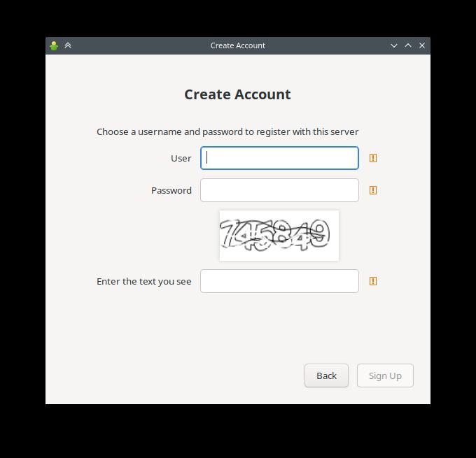 Gajim 1.2.0-beta1 create account